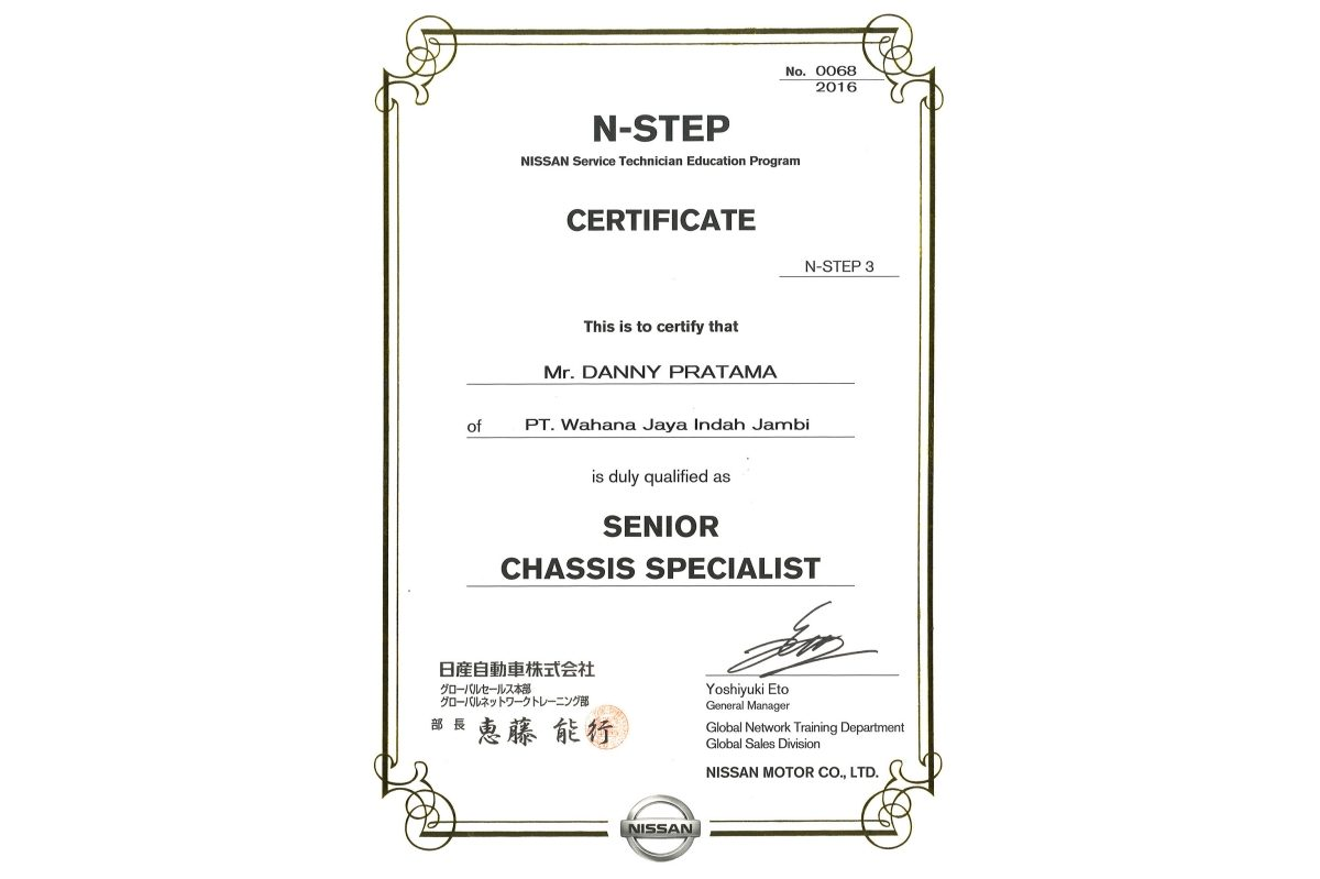 N-STEP 3 Senior Chassis Specialist