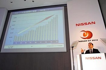 Nissan had to revise its midterm business plan  after the global financial crisis made holding onto cash a top priority.