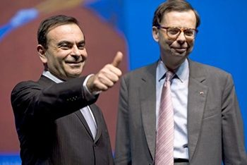 Carlos Ghosn, left, and Louis Schweitzer