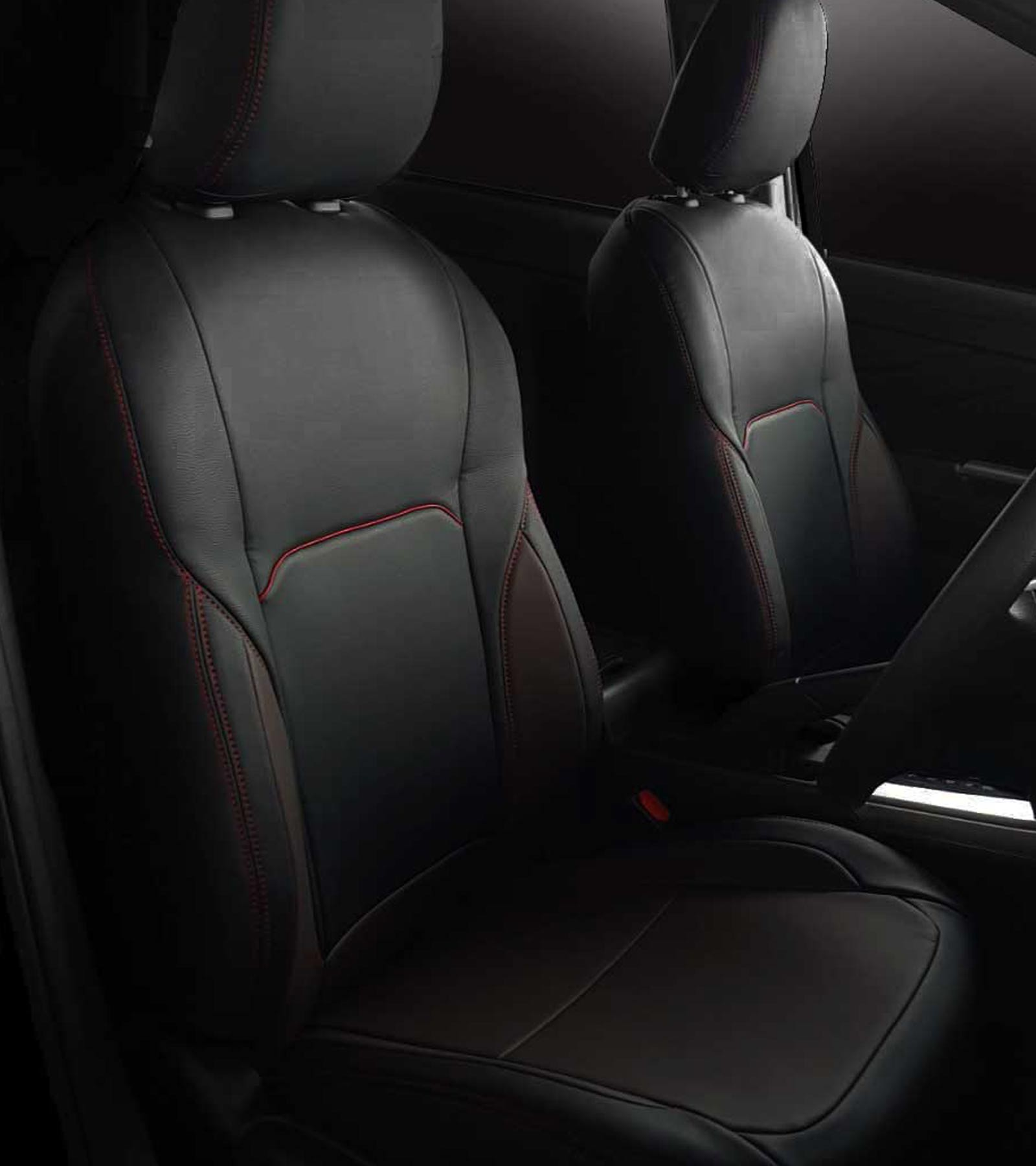 New Premium Seat Cover with Sporty Red Stitching