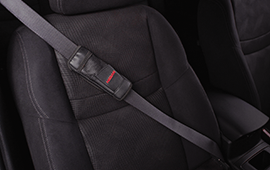 leather seat belt pad