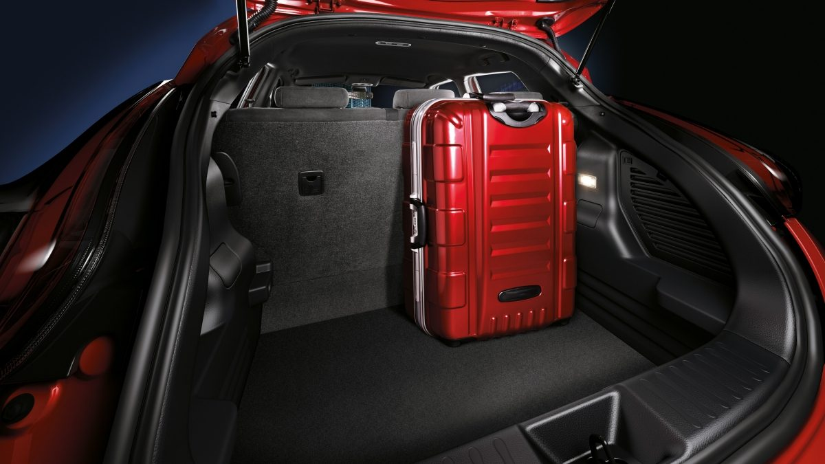 Folded down seats and trunk