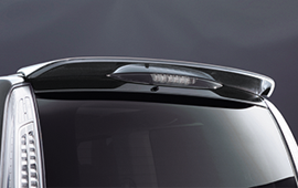 rear roof spoiler serena
