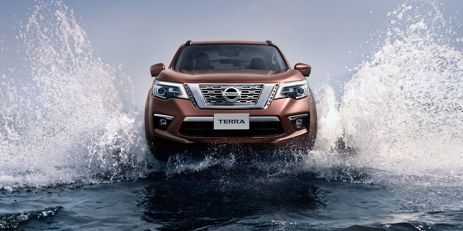 Nissan Terra driving through water