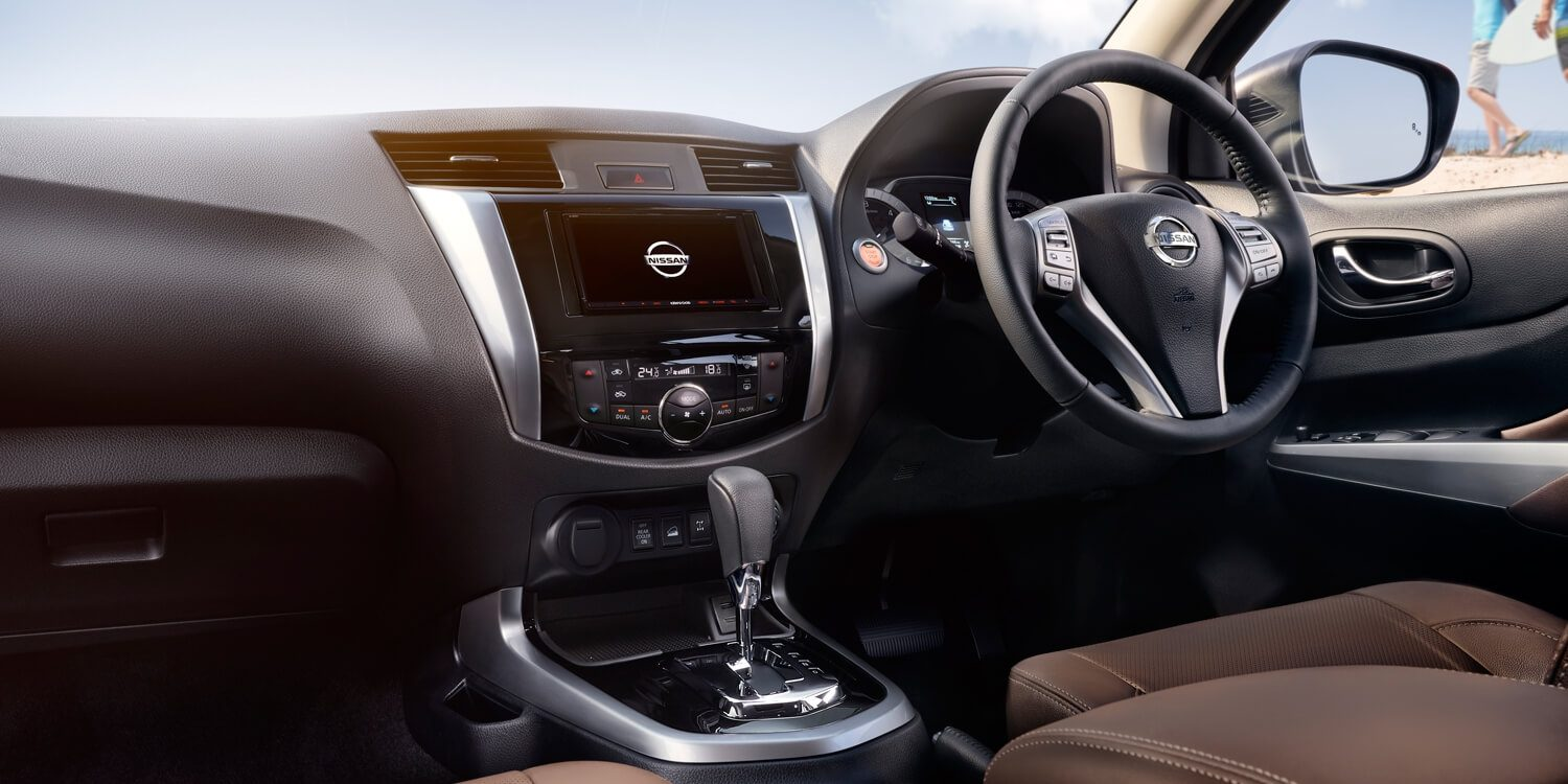 Nissan Terra interior showing dash