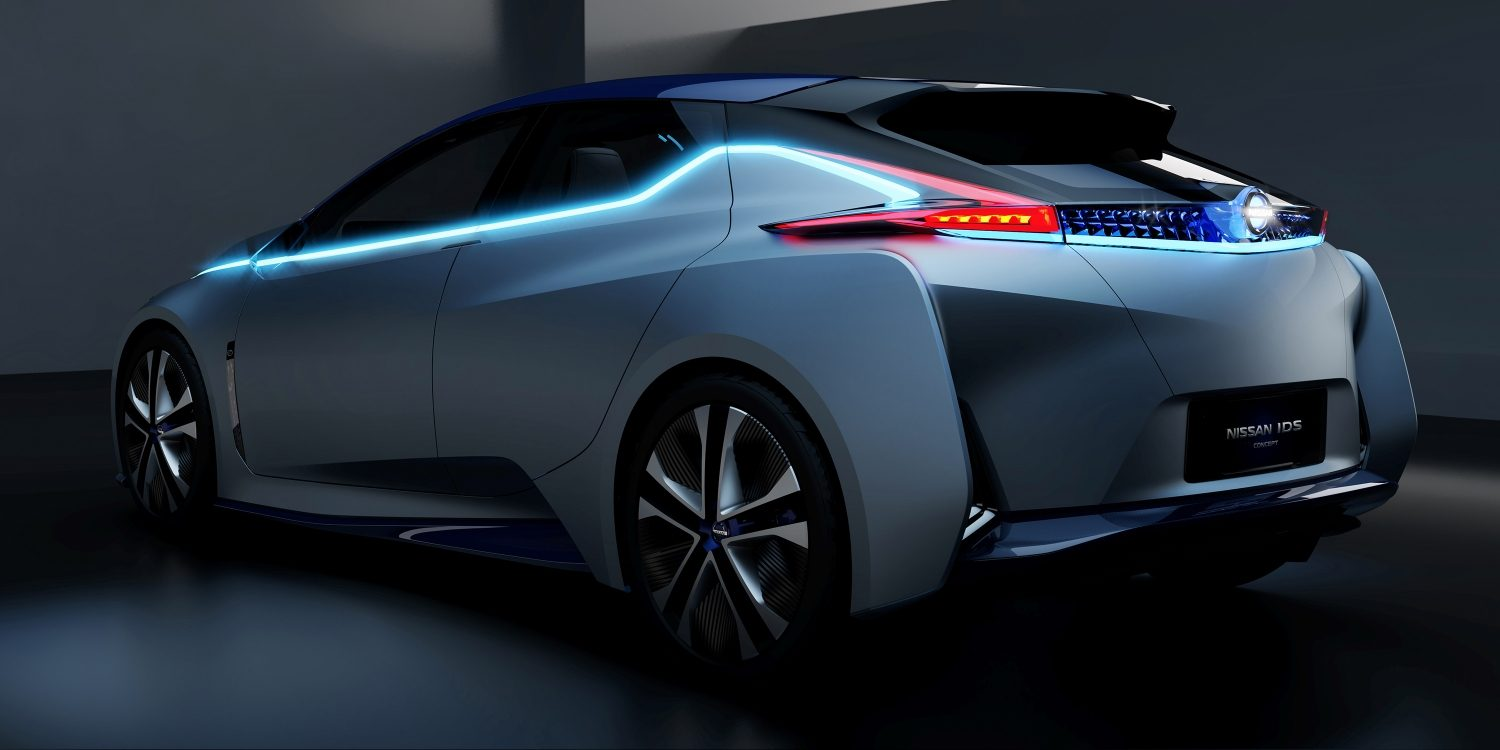 Nissan IDS Concept 3/4 rear in dark studio