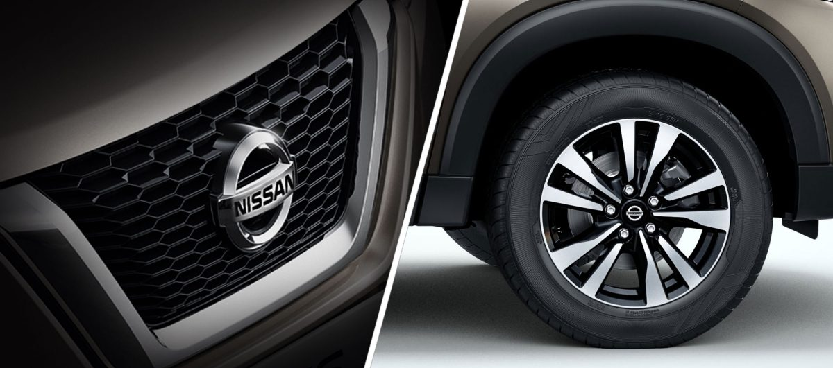 Nissan Signature V-Motion Chrome Grille and R17 5-Spoke Machined Alloy Wheels