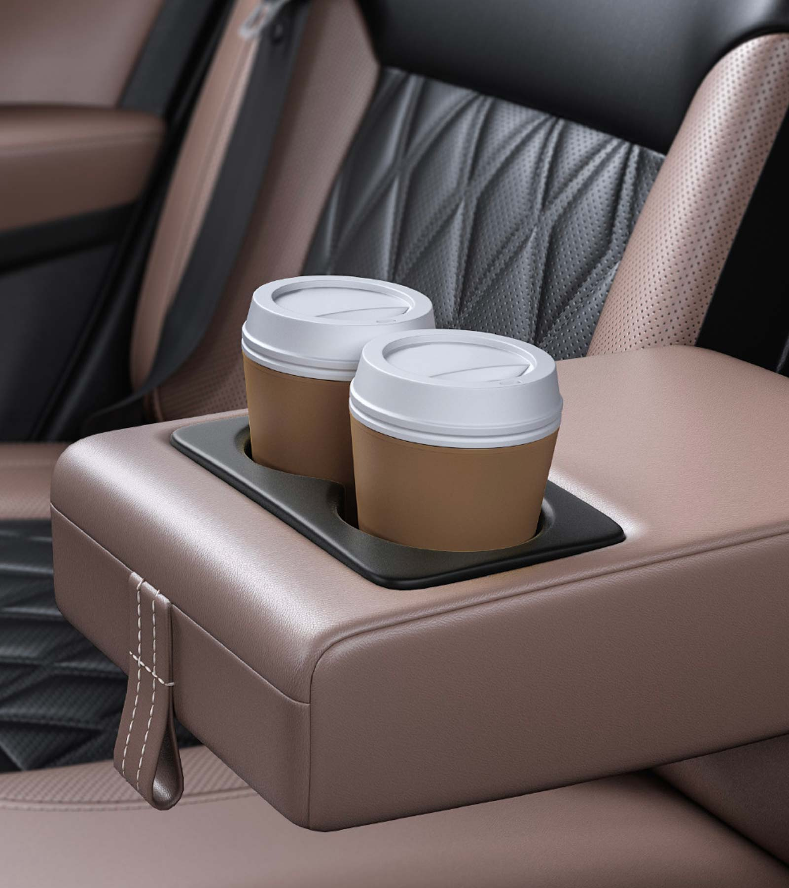 Rear Seat Armrest With Cup Holder