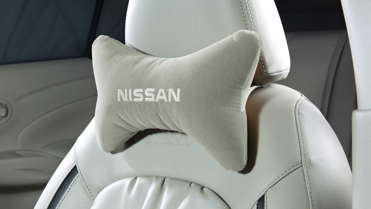 Seat Belt Pad & Neck Pillow Set - Greige