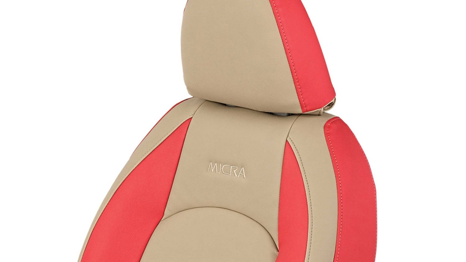 Seat Cover - Art Leather (Beige + Red)
