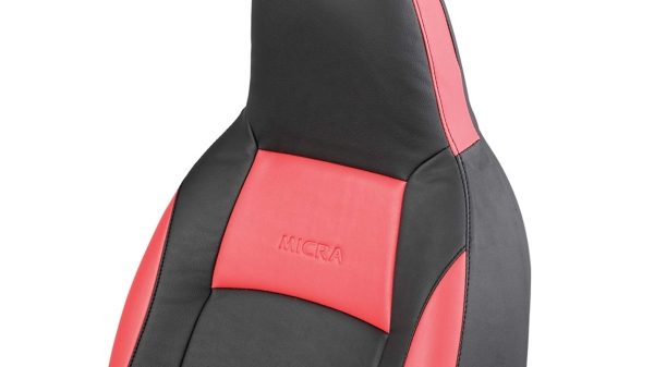 Seat Cover - Art Leather (Black + Red)