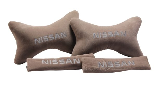Seat Belt and Neck Pillow Set - Beige