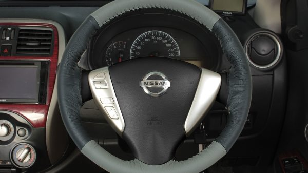 Steering Wheel Cover - Beige + Black