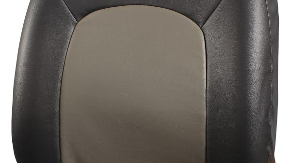 Seat Cover - Art Leather - Black + Greige
