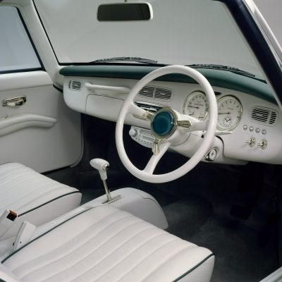 Interior of the Nissan Figaro Pike car