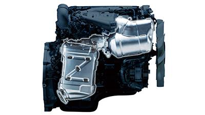 DPFをエンジンに近接配置