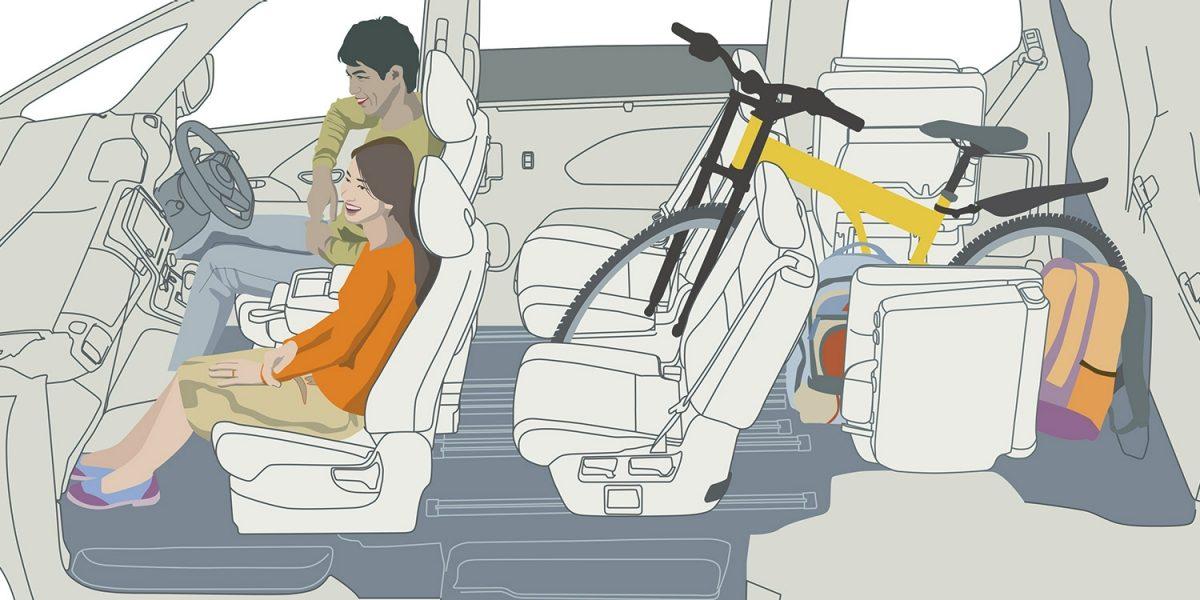 おとなの自転車もおまかせ。自転車載せモード
