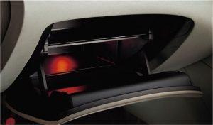 2段式グローブボックス(ダンパー、照明付)