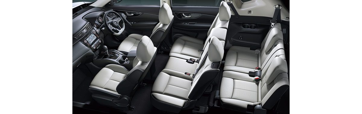 モード・プレミア ハイコントラストインテリア [ 3列シート車 ] Stone White Leather Seat