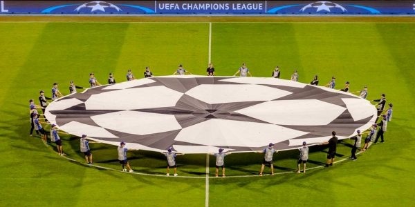 UEFA Center Circle Carriers on the field