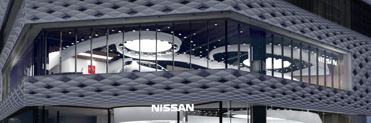 Nissan Crossing virtual facade exterior