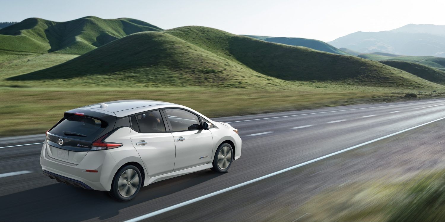 Nissan LEAF® SL shown in Pearl White.