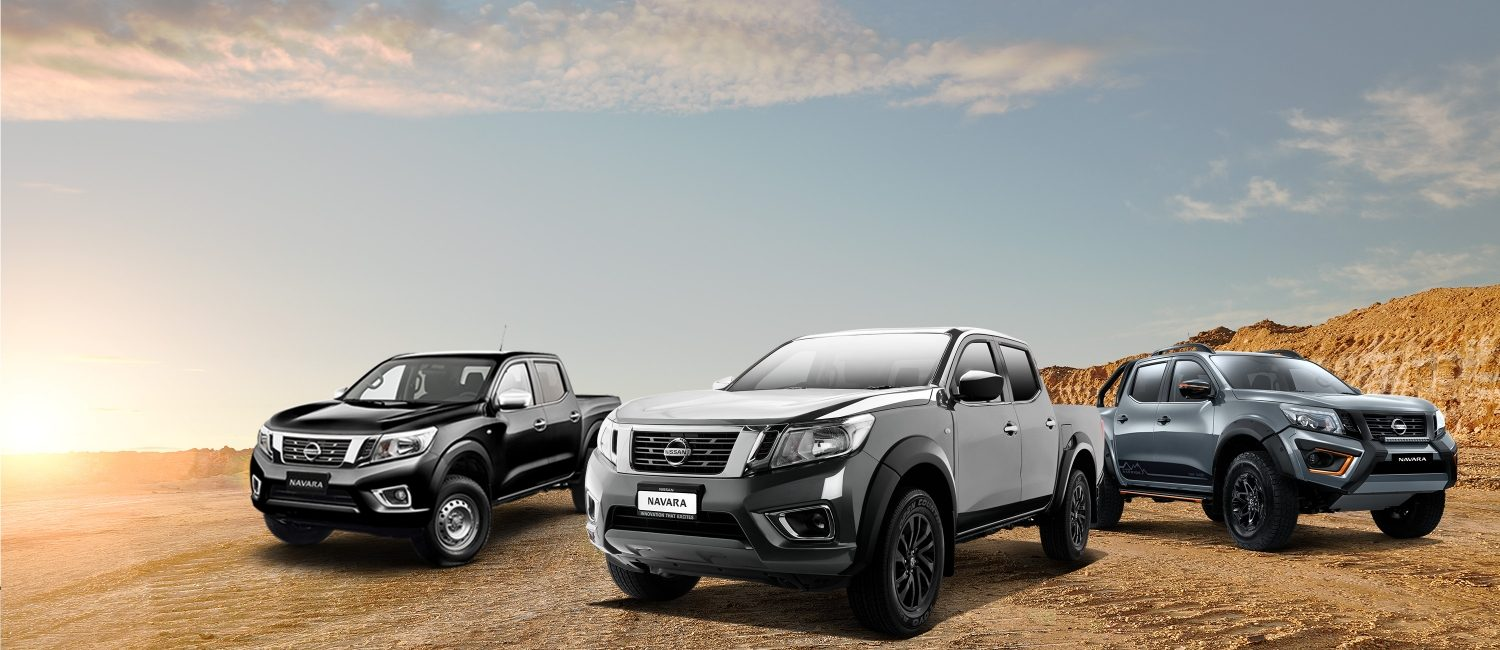 Three Nissan Navaras