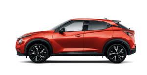 Nissan Fuji Sunset Red JUKE side profile