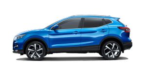 Nissan Vivid Blue Qashqai side profile