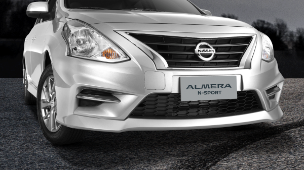 almera n-sport front bumper and chrome grille