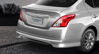 almera n-sport rear spoiler and skirt