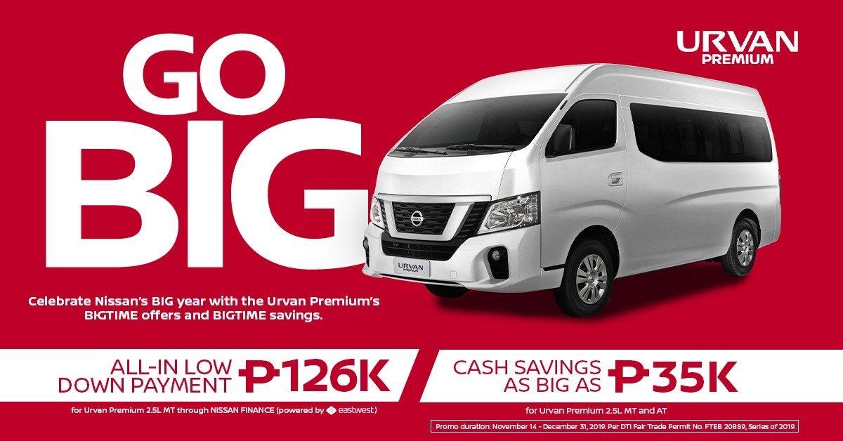 GO BIG promo - Urvan Premium