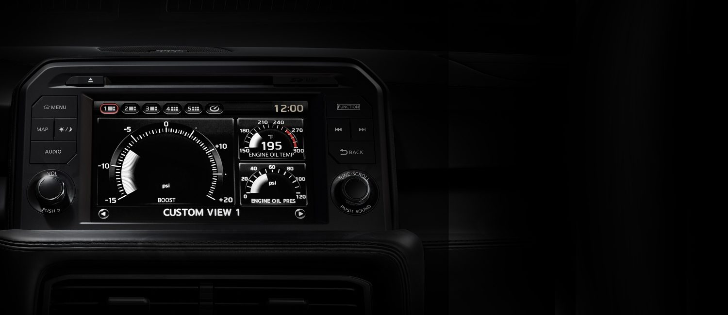 2020 Nissan GT-R programmable information display