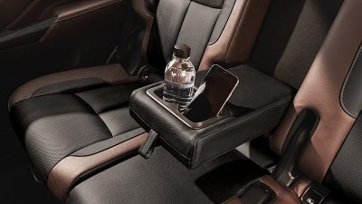 Nissan Terra Fold-down Rear-Seat Armrest with Cup Holders