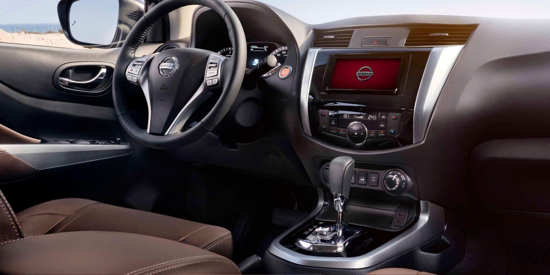 Nissan Terra interior showing dash
