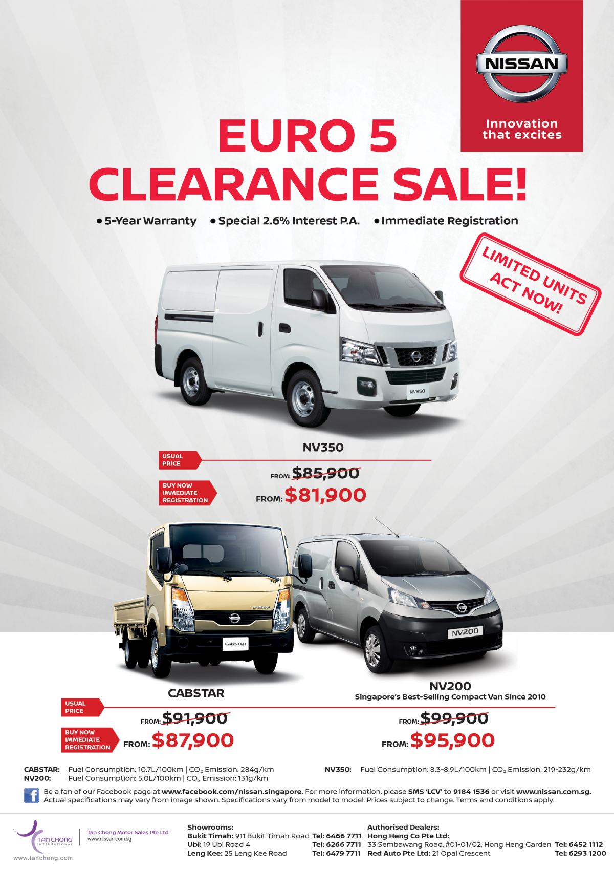 Euro 5 Clearance Sale, price starting from $81,900!