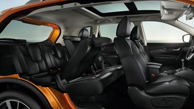 New 2018 X-Trail Interior Second Row Folded
