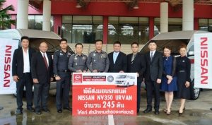 Royal Thai Police confidents the Nissan Big Urvan