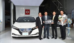 First Thai corporate customer takes delivery all-new Nissan LEAF
