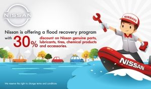 Nissan extends assistance for flood-affected customers