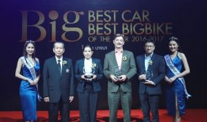 "Nissan Motor (Thailand) Co., Ltd. today won three ""BIG Best Car of The Year 2017"" awards at an event held at the Grand Hall, Bangkok International Trade & Exhibition Centre Bangna on 21 August 2017."
