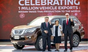 Nissan celebrates one million vehicle exports from Thailand