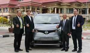 Nissan donates prototype Nissan Evalia to support industrial technology program