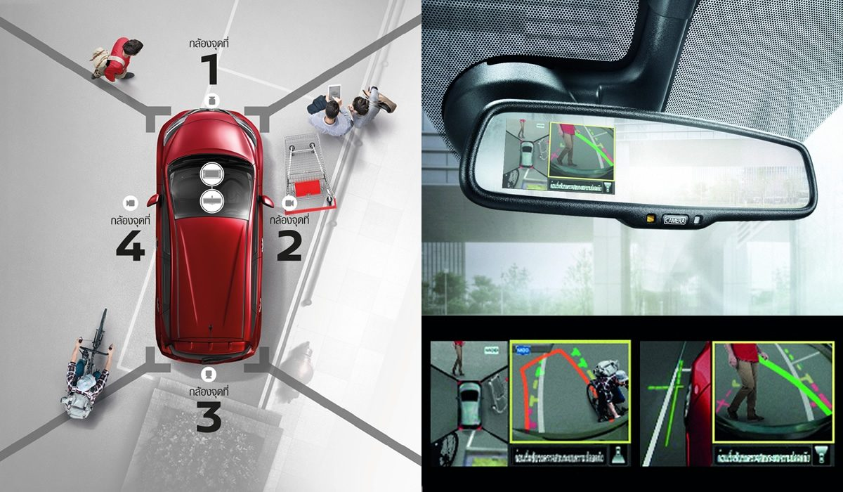 Car parallel parking intelligent around view mornitor