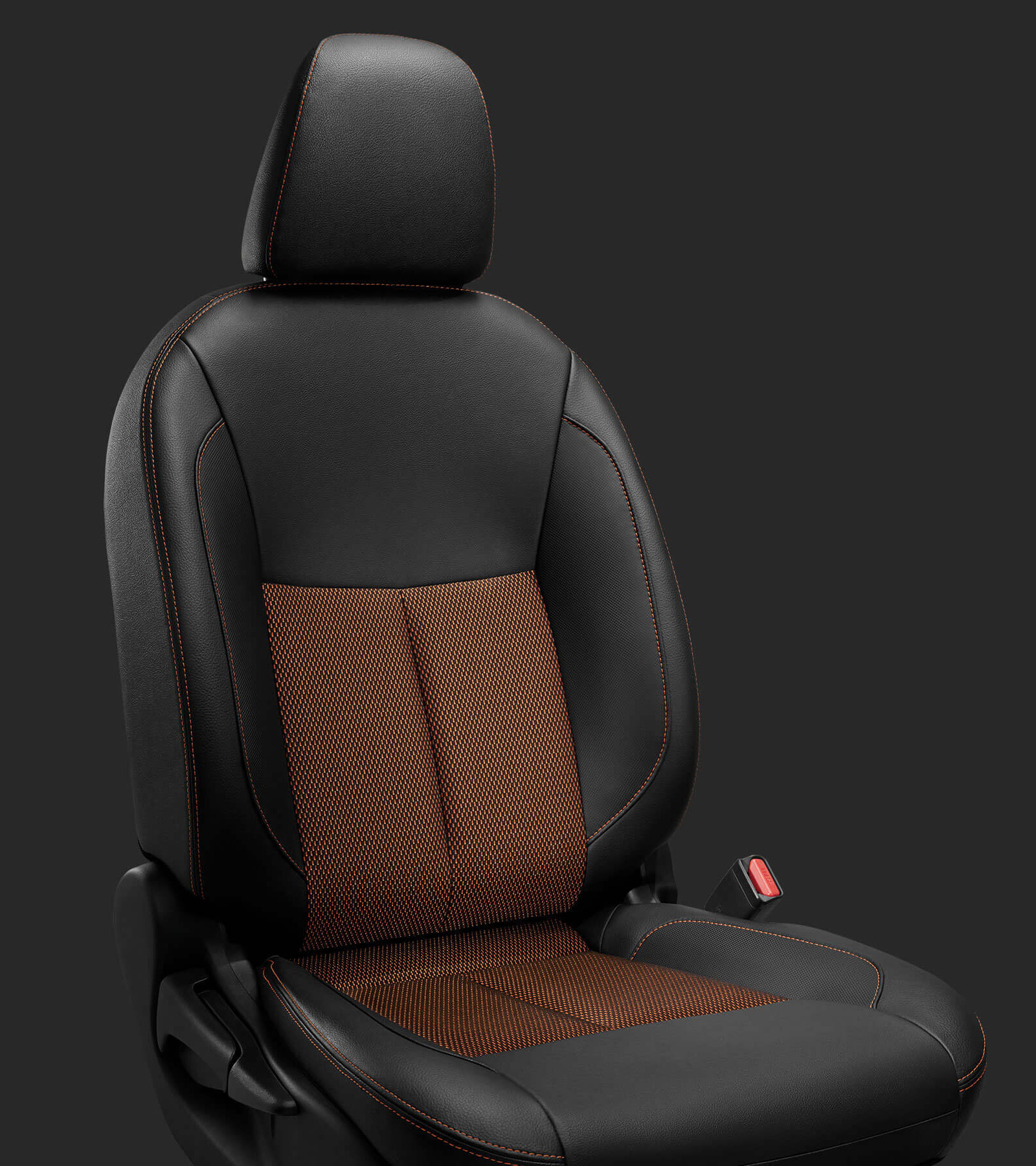 Black-Orange Seats