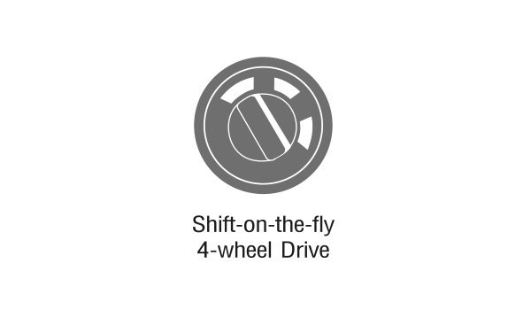 Shift-on-the-fly 4-wheel Drive & 4LO